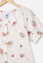 Free by Cotton On - Pippa puff sleeve top - vanilla