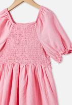 Cotton On - Lillie short sleeve dress - cali pink