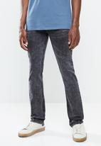SOVIET - Sledge mens slim fit denim - grey
