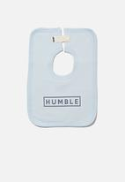 Cotton On - The darcey square bib - frosty blue/humble