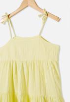 Free by Cotton On - Nicole sleeveless dress - lemon drop