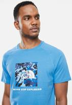 The North Face - M short sleeve rag red box tee - blue