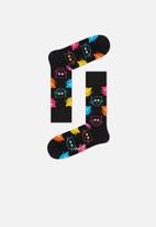 Happy Socks - Cat socks - black
