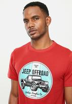 JEEP - Offroad graphic tee - red