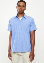 JEEP - Yarn dye check shirt - blue & white