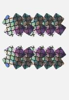 Up-Tape - Dark mermaid cross 5 pair nipple pastie set - mermaid purple