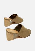 Cotton On - Colette heeled mule - khaki
