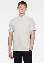 G-Star RAW - Side stripe short sleeve polo - cool grey