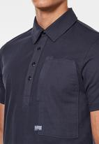 G-Star RAW - Arris pocket short sleeve polo - indigo