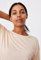 Cotton On - Sleep recovery crew T-shirt - neutral
