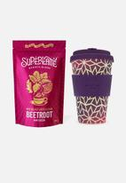 Ecoffee Cup - Pink star - superlatte & ecoffee cup
