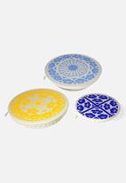 Halo Dish Covers - Halo Dish & Bowl Cover Large Set of 3 Edible Flowers - Johanna Linde