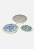 Halo Dish Covers - Halo Dish & Bowl Cover Large Set of 3  Beach House - Miro vd Vloed