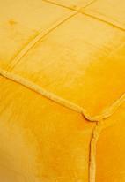 Sixth Floor - Venice velvet ottoman - mustard