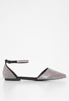 Sissy Boy - Bling it on diamante pump with ankle strap - black
