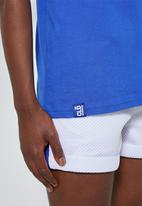 Thebe Magugu extra curricular  x CLD - Thebe Magugu extra curricular x CLD short sleeve tee - cobalt