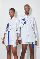 Thebe Magugu extra curricular  x CLD - Thebe Magugu extra curricular x CLD artist shirt - white