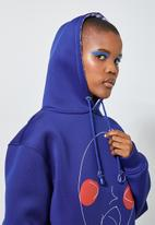 Thebe Magugu extra curricular  x CLD - Thebe Magugu extra curricular x CLD sweat hoodie - cobalt