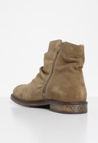 Jack & Jones - Jfwrukka suede zip boot - beige