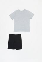 POP CANDY - Shorts & short sleeve tee pj set - grey & black