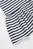 name it - Jill short sleeve dress - white & black