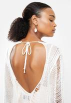 STYLE REPUBLIC - Crotchet open back cover up - white
