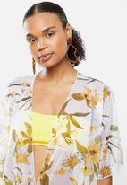 STYLE REPUBLIC - Floral short cover up - multi