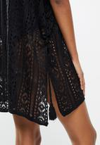 STYLE REPUBLIC - Crotchet short kaftan - black