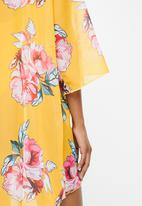 STYLE REPUBLIC - Floral short cover up - yellow