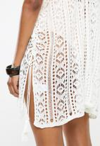 STYLE REPUBLIC - Crotchet short kaftan - white