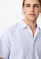 Cotton On - Vintage prep short sleeve shirt - blue & white