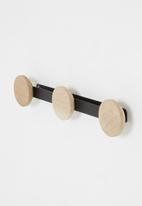Emerging Creatives - Round wall hooks - black