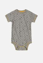 UP Baby - Baby boys bodysuit & sweat shorts set - grey