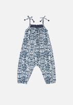 UP Baby - Girls jumpsuit & headband set - dark blue
