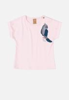 UP Baby - Girls short sleeve tee - light pink