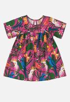 UP Baby - Girls printed short sleeve dress - multi