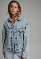 Cotton On - Ultimate oversized denim jacket - aireys blue