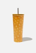 Typo - Metal smooth cup - yellow