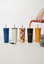 Typo - Metal smooth cup - black