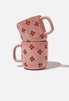 Typo - 2 Pack mug set - burnout daisy