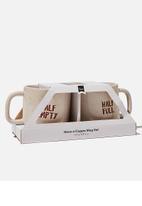 Typo - 2 Pack mug set - neutral