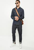 Wrangler - Denim regular fit  shirt - dark wash