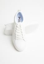 POLO - Tyler plain vamp lace sneaker - white