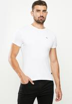 SOVIET - Bolt s20 short sleeve muscle fit T-shirt - white