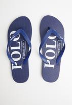 POLO - Mens kylo polo logo flip flop - navy