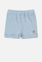 UP Baby - Boys soft jersey cotton shorts - blue