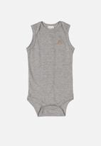 UP Baby - Boys sleeveless bodysuit - grey