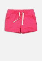 MINOTI - Girls basic jersey short - hot pink