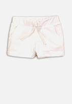 MINOTI - Girls basic jersey short - white