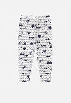 UP Baby - Baby boys printed pants - navy & white
